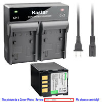 Kastar Battery Rapid Charger for JVC BN-VF733 & JVC GR-D347 GR-D347U GR-D347US