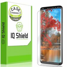 Galaxy S9 Screen Protector IQ Shield Full Coverage Bubble Free Clear Film 2 Pack