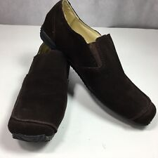 Miss Me Loafers Brown Suede Flats Slip On Casual Walking Shoes Womens Size 7M