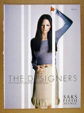 1999 patrick demarchelier photos Saks Fifth Avenue 'Designers' 24 page print Ad