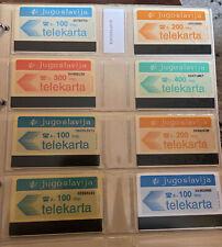 Telecarte / Phonecard Set Yougoslavie