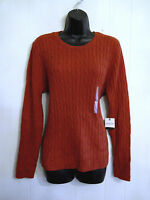 St Johns Bay Cable Sweater NWT size XL Classic Red Warm Comfy Cotton Blend Knit