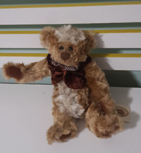 THE GANZ COTTAGE TEDDY BEAR 28CM TAGS! LORRAINE CHIEN CC11027 CAPPUCCINO