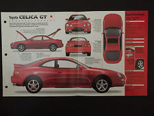 1998 Toyota CELICA GT IMP Hot Cars Spec Sheet Folder Brochure RARE