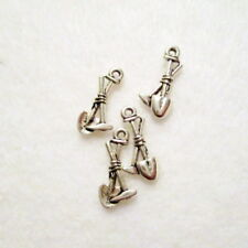 10 Antique Silver Pick and Shovel Charms, 19x9mm, Jewelry Making Supplies (1026)