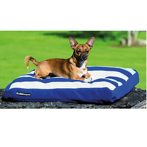 Horseware Comfy Rambo Dog Bed Deluxe Whitney Stripe Navy Small removable pillow