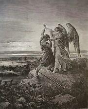 Israël Lutte de Jacob avec l'Ange Gustave Doré 1874