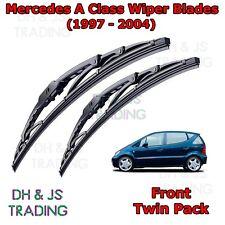 "(97-04) Mercedes A Class Front Wiper Blades Windscreen 26"" 22"" Hook Type Wipers"
