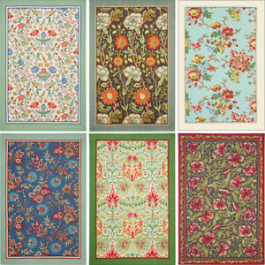 ARTS & CRAFTS TEA TOWEL Ulster Weavers English Floral Kitchen Flower Textile Mum