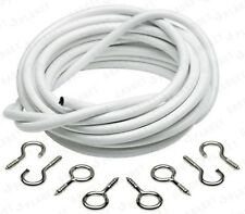 6 METRE NET CURTAIN WIRE - FREE HOOKS & EYES - FREE DELIVERY - CHEAPEST ON EBAY