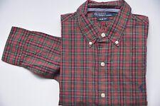 Polo by Ralph Lauren Hemd langarm Gr M - grün rot kariert - sehr gut 131017-112