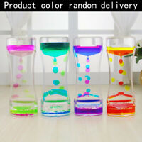 Floating Color Mix Illusion Liquid Oil Hourglass Timer Fun  Sensory Toy Great