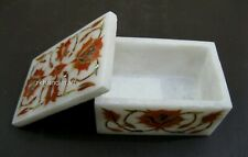 Beautiful Flower Design Marble Multi Use Box Inlay Bracelet Box Size 2 x 3 Inch