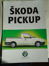 Skoda Pickup brochure Aug 1996 German text