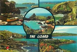 Postcard United Kingdom Multi View The Lizard Boat Cliff Village