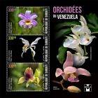 Djibouti Flowers Stamps 2020 MNH Orchids of Venezuela Flora Nature 3v M/S II