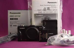 Panasonic LUMIX DMC-GF2 12.1MP Camera Body Micro 4/3 Excellent 2177A