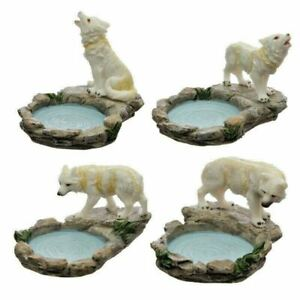 Forest Protector Protector of the North Wolf Tea Light Candle Holder Ornament x1