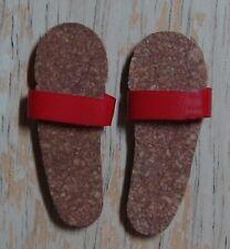 Ken Cork Sandals With Red Straps