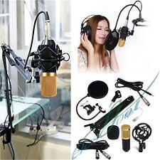 BM-800 Condenser Pro Microphone Studio Suspension Boom Scissor Arm Sound Card