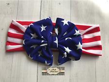 Baby 4th of July Headband Turban Bow Headband, Memorial Day, Patriotic Any Size