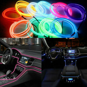 5M LED Car Interior Decor Wire Strip Light Lamp Glow Neon Atmosphere Accessories