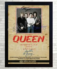 QUEEN Freddie Mercury Poster Vintage SIGNED Framed Photo PRINT reprint POSTER