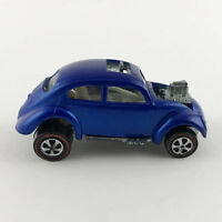 Hot Wheels Redline Custom Volkswagen 1968 Blue with White Interior U.S. Nice Car