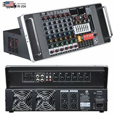 Emb Tx6P 600W 6 Channel Power Mixer Console w/ Dsp Effects, Bluetooth, Record