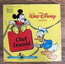 E14 Walt Disney Chef Donald Duck 8mm Films Super 8 Color in Box Silent Film