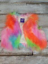 Jem and The Holograms Fuzzy Rainbow Vest Girls Sz S 6/8 Costume