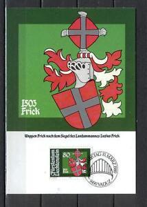 Maxi Card B47 Liechtenstein 1980 Coat of arms Luzius Frick