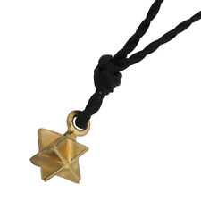 "14k gold ""star of david"" pendant on black string by YOYO32 collection by Yorini"