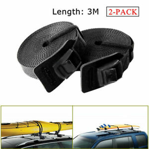 3M Length Tie Down Straps High Strength For Surfboards SUP Kayaks Car Roof Rack