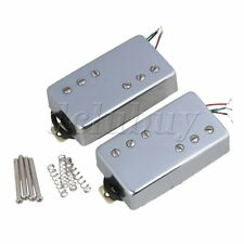 Electric Guitar Magnet Bridge Neck Humbucker Pickup With Silver Covers