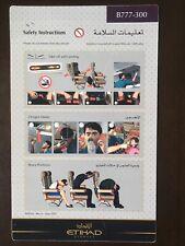 Safety Card / Etihad Airways / Boeing 777-300 / 2011