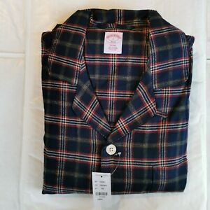 Brooks Brothers Men's Large Check Cotton Flannel Lounge Set