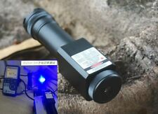 Waterproof Focusable Super Powerful 450nm Blue Laser Pointer LED Torch 450T-5000