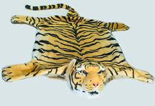 Tigerfell Teppich Bettvorleger Tiger Deko Kamin Stofftier Fellbraun