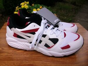 New ASICS Tiger Men's Gel-Diablo Athletic Walking Sneakers White/Red/Black 8D