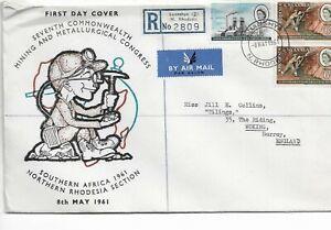 (3) Rhodesia & Nyasaland 1961 Congress FDC SG38-39