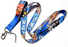 ONE PIECE BLUE LANYARD anime manga pirate Monkey D Luffy Nami key neck strap 5Z