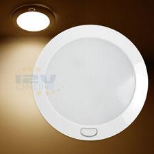 "RV Light 12v LED 5"" Panel Lamp Motor home Interior Switched Ceiling Light Warm W"