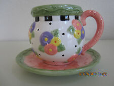 Mary Engelbreit Teacup & Saucer-Rare (April Showers)