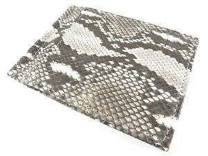 PELGIO Genuine Python Snake Skin Leather Money Clip Slim Bifold Wallet Natural
