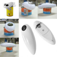 One Touch Automatic Electric Tin Can Opener Bottle Tin Can Open Tool Kitchen AD