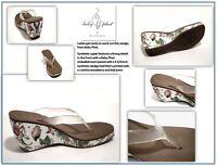 Women's Baby Phat Strawberry Print Thong Wedge Sandal: Size 9.5 M