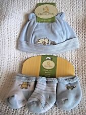CLASSIC WINNIE THE POOH BABY BOY REBORN Hat & SOCK BOOTIES SET 0-6 Months NEW