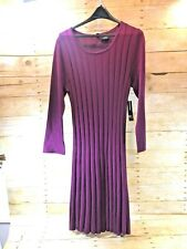 💗NWT💗 $58 NEW DIRECTIONS ND CABLE KNIT MINI SWEATER DRESS GOJIBERRY Wm's PS