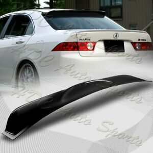 For 2004-2008 Acura TSX Black ABS Plastic Rear Window Roof Visor Spoiler Wing